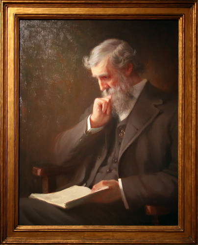 John Muir, c. 1917 from a photograph copyrighted in 1909 by Orlando Rouland, Oil on canvas