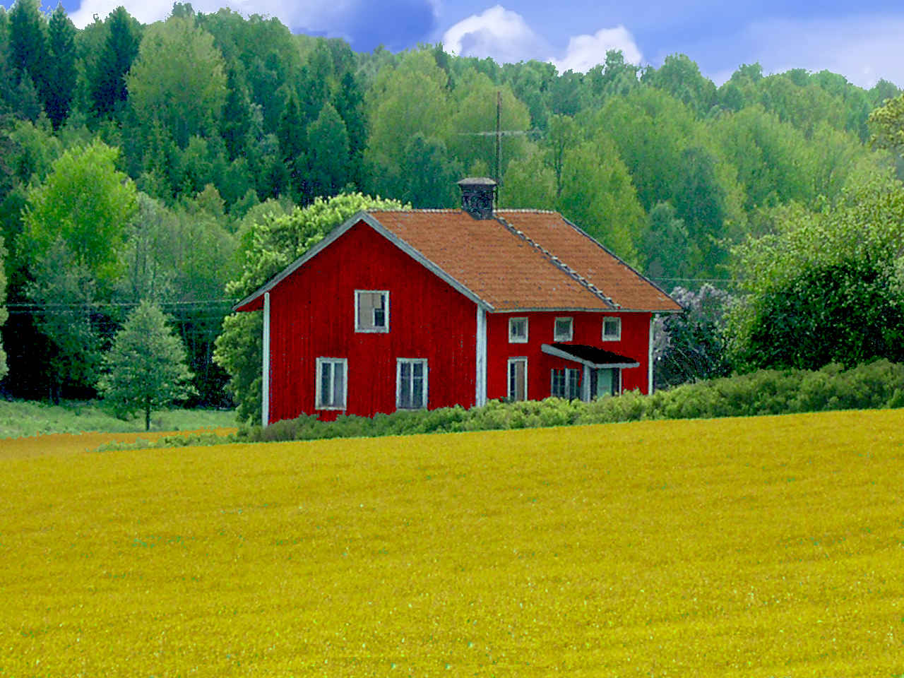 Abandoned Wooden House In Swedish Landscape A Photo On