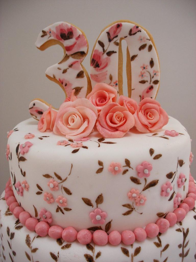 30th Birthday Cake Detail