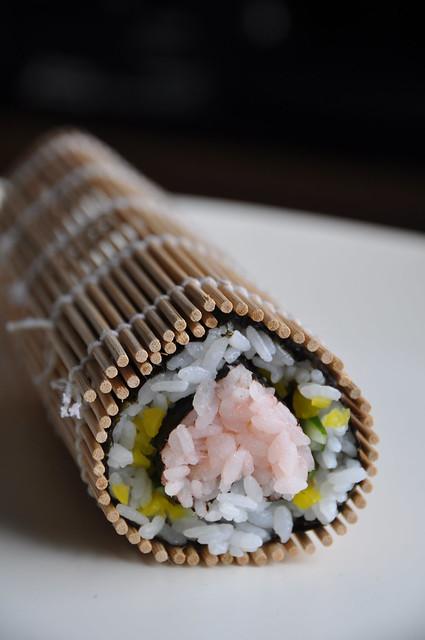 rolled sushi