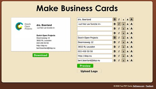 make business cards