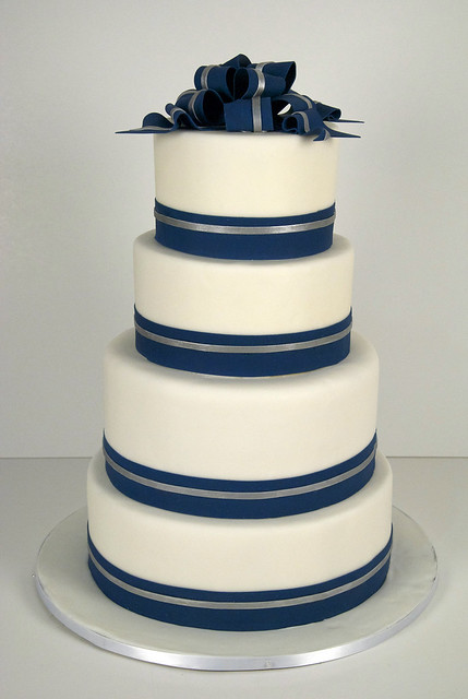 wedding cake navy blue and white w9045 navy white silver wedding cake toronto flickr 23304