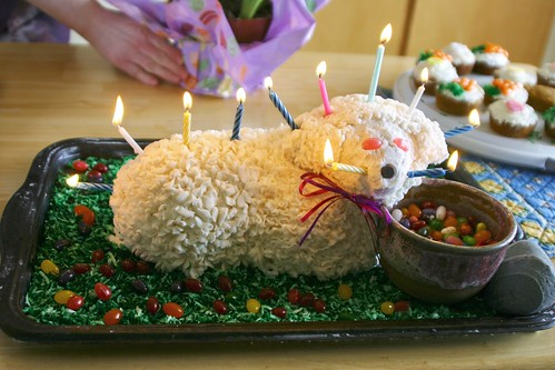 Lamb Cake on Fire