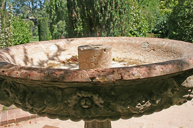 Filoli gardens carved bird bath flickr photo sharing