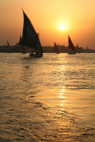 sunset orange water yellow river boat egypt nile sail felluca blueribbonwinner anawesomeshot donnacorless