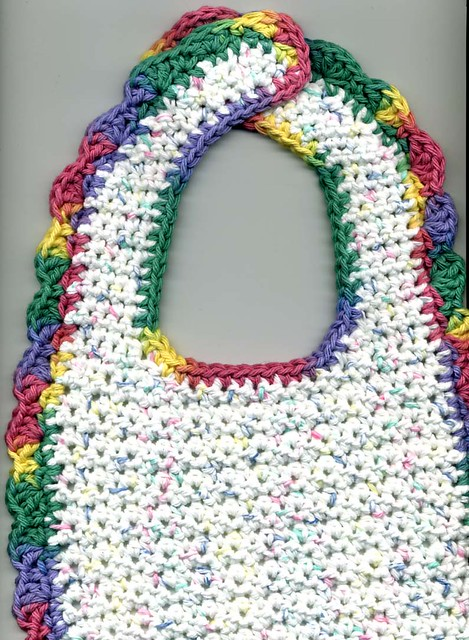 Bernat Crochet Baby Bib Pattern : Crochet Cotton Baby Bib Flickr - Photo Sharing!