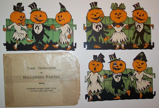 Vintage Halloween Table Decoration with Original Envelope