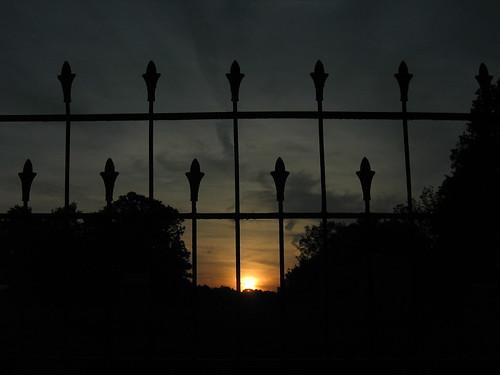sunset ohio fence cemetary wroughtiron senecaville