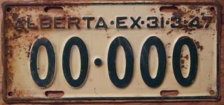 ALBERTA 1946 (EX-31-3-47) SAMPLE plate