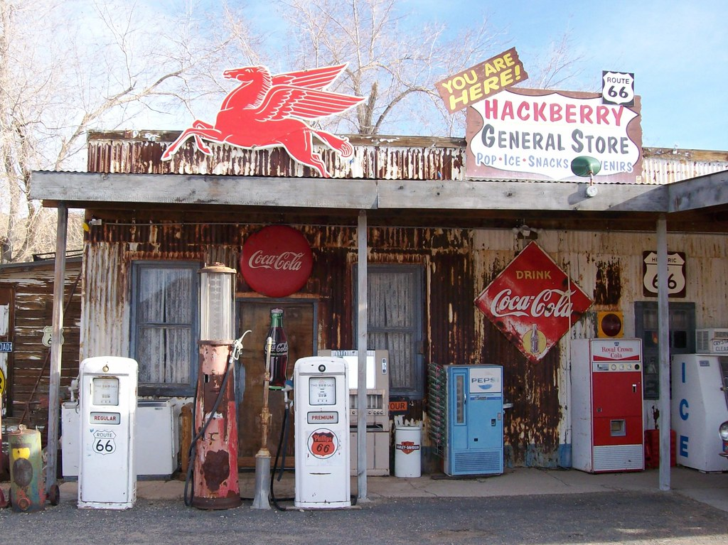 You are here! Hackberry General Store along Arizona's Route 66 (highway66022xy)