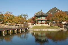 Islet at Gyeongbokgung Palace, Seoul
