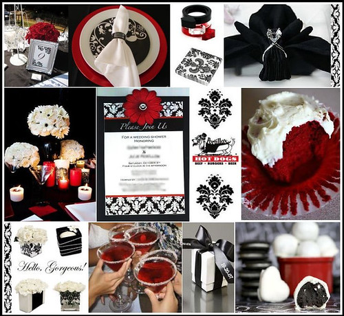 My Wedding Place Black White Red Wedding