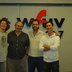 Charlie Hunter with Darren DeVivo at WFUV