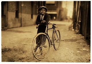 Lewis Hine: Messenger boy for Mackay Telegraph Co., Waco, Texas, 1913