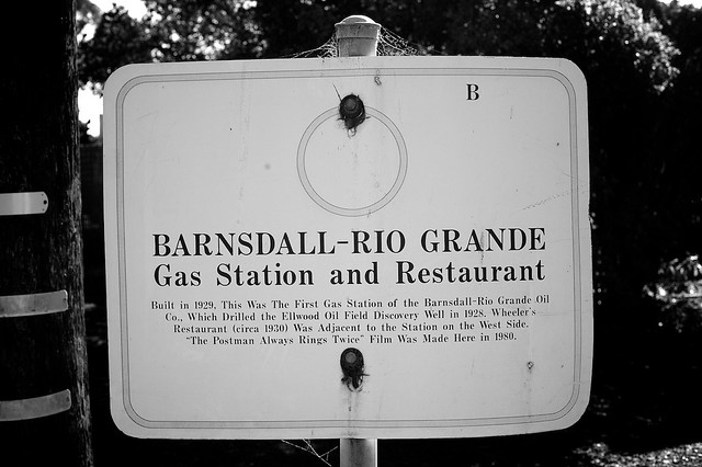 Barnsdall Rio Grande Gas Station And Restaurant Sign