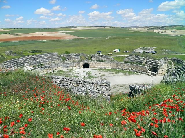 View of the Roman Amphitheatre, Parque Arqueológico de Segóbriga