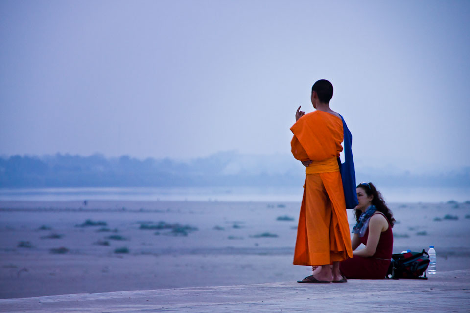 The Monk and the Tourist - Laos