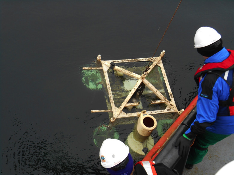 Recovery of the Saanich Inlet instrument platform.
