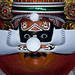 Kathakali dancer with mask - India