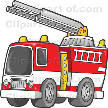 RoyaltyFree RF Fire Truck Clipart Illustrations