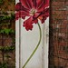 SOLD GuildMaster Red Floral Door Panel