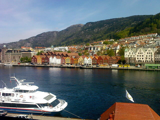 Bergen - Blick auf Bryggen
