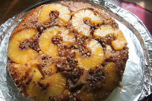 pineapple upside down cornmeal cake