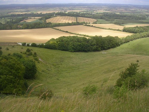 View back from Firle climb