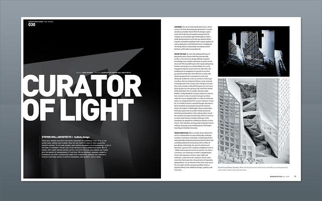 Modern Design Magazine Steven Holl Magazine Design