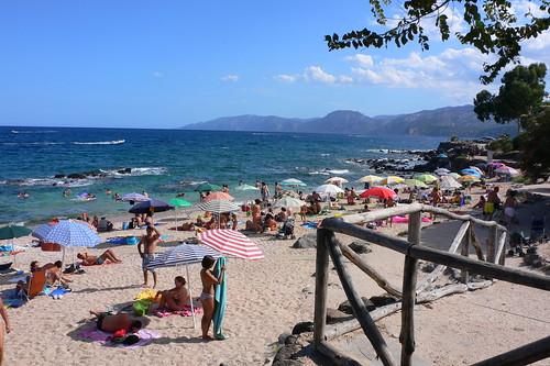 Town beach in Cala Gonone