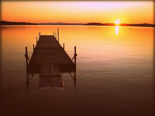 morning lake sunrise dock vermont sunny vt lakechamplain southhero keelerbay visionqualitygroup visionquality100