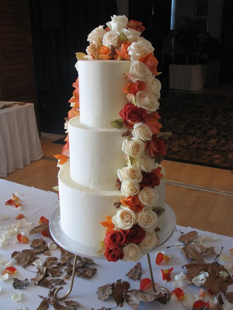white choc ganache wedding cakes white chocolate ganache autumn wedding cake a photo on 27238