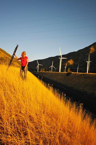 railroad sunset red woman windmill beautiful nikon farm tripod tracks fork used spanish prop d300
