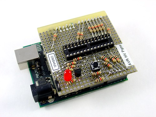 Arduino based avr high voltage programmer mightyohm
