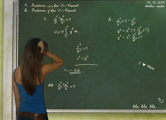 Sometimes I think that I don't know that much - But math sucks!~