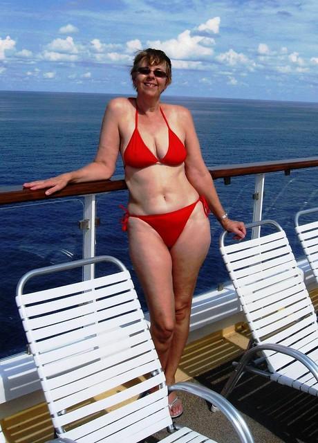 Beautiful wife bikini