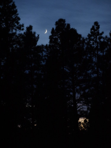 sunset arizona moon nature pinetop newmoon crescentmoon pinetoplakeside