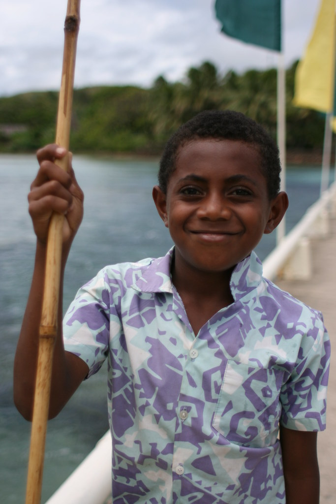 Young spear fisherman