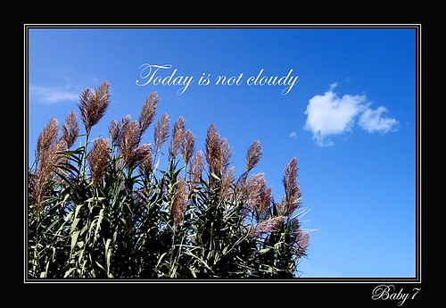Today is not cloudy.....