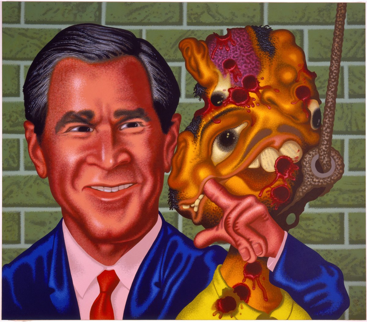 George Bush at Abu Ghraib by Peter Saul
