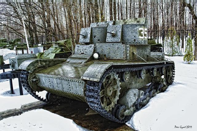 Soviet T-26 Two-Turret Cavalry Tank. 1933.