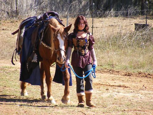 november horse girl leather festival lady texas games highland swords 2008 renaissance renfest saddle highlanders 81115renfest