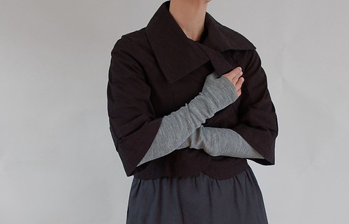 grey armwarmers