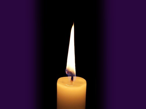 Single Candle Theme Slide - Purple Borders