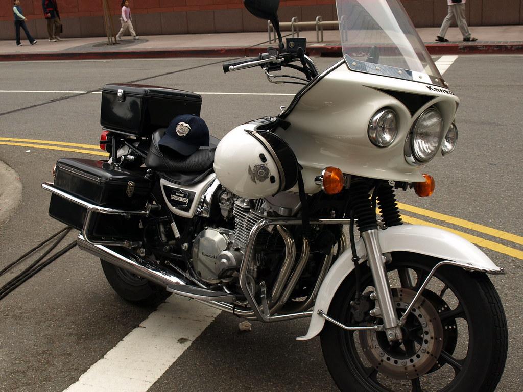 OldMotoDude: 1992 Kawasaki KZ1000 Police Bike at the Craig
