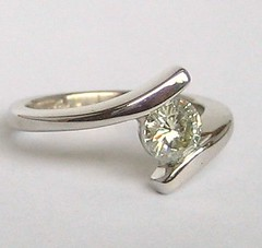 Moissanite Enagement Wedding Ring