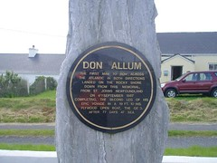 Photo of Don Allum and William Alley black plaque