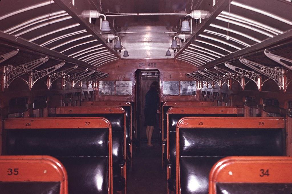 2nd class carriage 488 by Leonard J Matthews