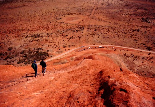 [archive]: climbing down Ayers Rock