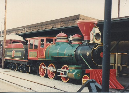 Old steam locomotive on display at the Chattanooga Choo Choo Holiday  Inn Hotel. Chattanooga Tennesee. May 1990. by Eddie from Chicago
